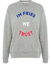 Être Cécile - In Fries We Trust Boyfriend Sweatshirt - Lyst
