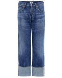 Citizens of Humanity - Parker Relaxed Cuffed Crop Jeans - Lyst