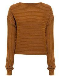 Tibi - Merino Wool Cropped Sweater - Lyst