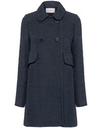 Paul & Joe Estrello Tweed Coat - Blue