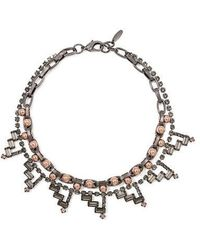 Joomi Lim - Geometric Crystal And Spheres Necklace - Lyst