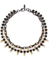 Joomi Lim Baroque Punk Spike Necklace - Metallic