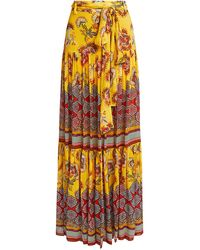 Alexis - Erris Floral Maxi Skirt - Lyst