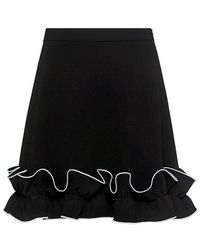 Boutique Moschino - A-line Ruffle Mini Skirt - Lyst