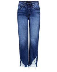 3x1 - Higher Ground Boyfriend Distress Crop Jeans - Lyst