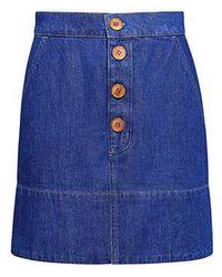 M.i.h Jeans - Pedalo Denim Skirt - Lyst