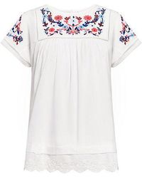 Rebecca Taylor - Folk Garden Embroidery Top - Lyst