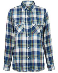 Current/Elliott The Perfect Plaid Shirt - Blue