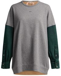 N°21 Color-block Sweatshirt - Gray