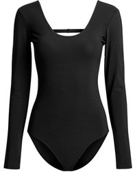 Tibi Lightweight Jersey Bodysuit - Black