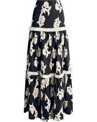 Alexis - Surrey Printed Ruffled Maxi Skirt - Lyst