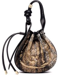 BEHNO Ina Mini Handcrafted Drop Cloth Crossbody Bucket Bag - Multicolor