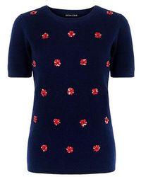 Sachin & Babi - Playa Flower Embellished Knitted Top - Lyst