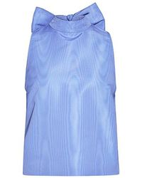MSGM - Back Bow-tie Satin Top - Lyst
