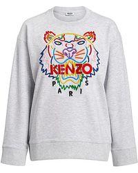 c8c5cca3 KENZO - Rainbow Tiger Embroidered Oversized Sweatshirt - Lyst
