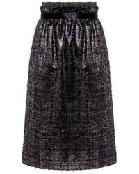 Mother Of Pearl - Eloise Metallic Midi Skirt - Lyst
