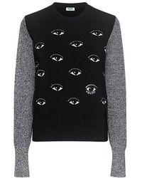 KENZO - Multi Eyes Intarsia Sweater - Lyst