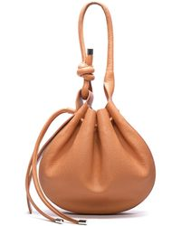 BEHNO Ina Handcrafted Pebble Leather Crossbody Bucket Bag - Multicolor