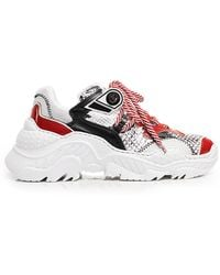 N°21 Billy Python-effect Sneakers - Red
