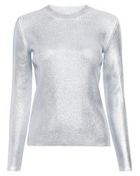 Carven - Metallic Ribbed Sweater - Lyst
