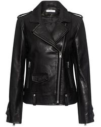 IRO - Dumont Ruffled Leather Jacket - Lyst