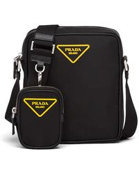 Prada Nylon Cross-body Bag - Black