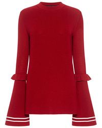 Mother Of Pearl - Rubi Ruffled Long Sleeve Sweater - Lyst