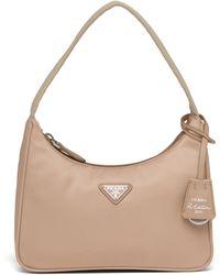 Prada Re-edition 2005 Nylon Mini Bag - Natural