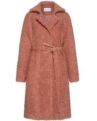 Carven | Belted Wool Mohair Coat | Lyst
