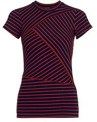 Rachel Comey - Patch Cut Sleeve Stripe Fitted Tee - Lyst