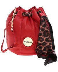 be Blumarine - Scarf Bucket Bag In Red - Lyst