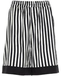 Laneus - Stripes Shorts In Black And White - Lyst