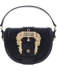 Versace Jeans Couture Baroque Buckle Handbag - Black