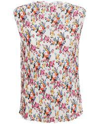 MSGM - Blusa plissettata con motivo floreale - Lyst