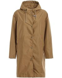 Fay Technical Fabric Hooded Trench - Natural