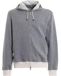 Brunello Cucinelli Cotton Blend Sweatshirt - Gray