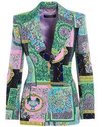 Versace - Blazer stampa Barocco Patchwork multicolor - Lyst
