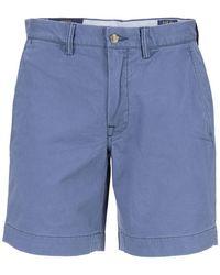 Ralph Lauren Stretch Cotton Bermuda Shorts - Blue