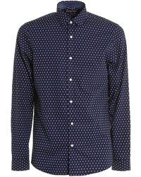 Michael Kors Patterned Cotton Shirt - Blue