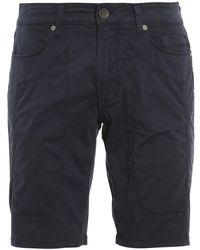 Jeckerson Cotton Bermuda Shorts - Blue