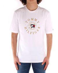 Tommy Hilfiger - T-shirt Tommy Icons capsule bianca - Lyst