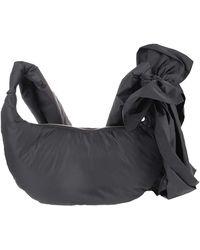RED Valentino Bow Detail Nylon Hobo Bag - Black