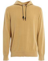 Aspesi Cotton Drawstring Hoodie - Yellow