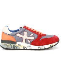 Premiata Mick Multicolor Sneakers - Red