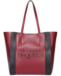 Alexander McQueen Signature Tote - Red
