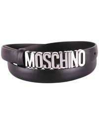 Moschino Maxi Metal Logo Belt - Black