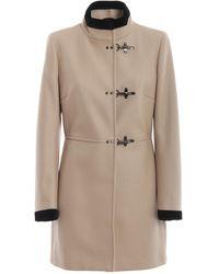 Fay Ivory Virginia Three-hook Coat - Natural