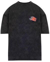 Balenciaga T-shirt Flame nera - Nero