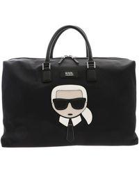 Karl Lagerfeld Weekender Kikonik Bag In Black