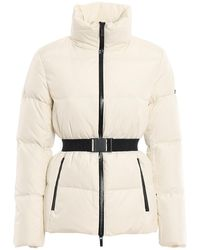 Michael Kors Belted Quilted Puffer Jacket - White